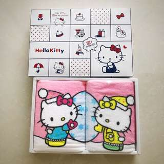 BNIB Authentic Sanrio Hello Kitty Face Towel 2-Piece [INSTOCK]