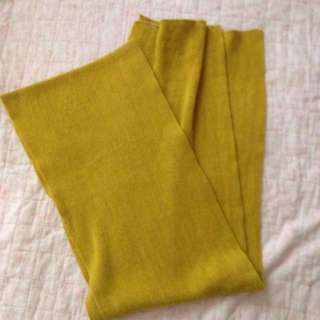 芥末黃圍巾
