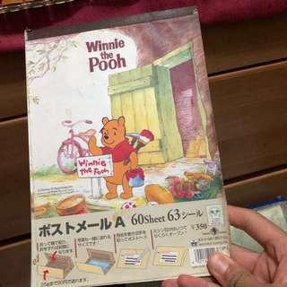 Winnie the pooh 信紙