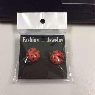Polymer Lady Bug Earrings