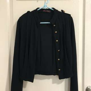 cardigan w gold buttons