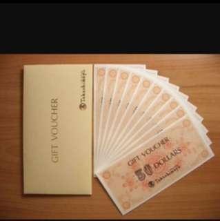 Buying 5k worth Takashimaya Vouchers