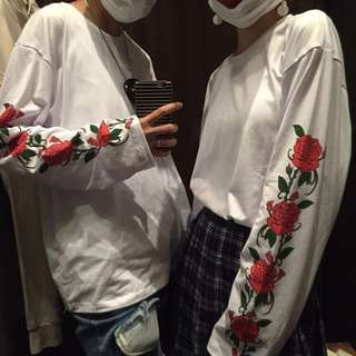 PO: Ulzzang Floral Long Sleeve Oversized Top