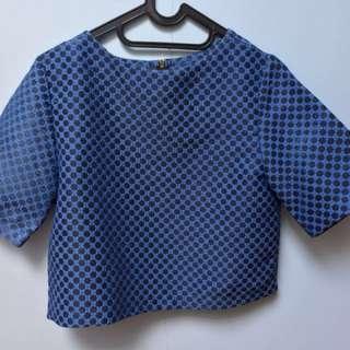 Crop Polkadot Shirt