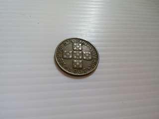 Portugal Pre Euro Coin XX Centavos 1967
