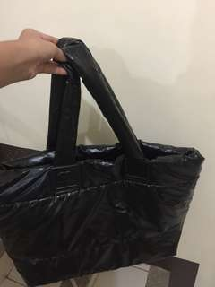 Chanel CC mark Cocoon large black tote bag