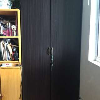 Brown Wardrobe Cabinet (Malaysian Rubber Wood)