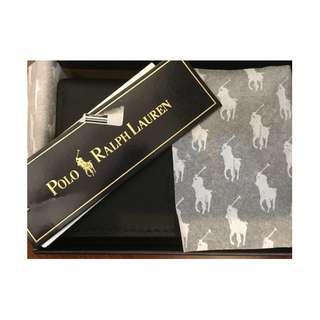 POLO ralph lauren 黑 短夾 名片夾 卡包 錢包 低調 名片 名片包