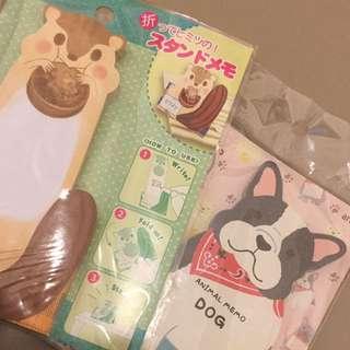 日本製 Japanese Animal Memo Paper