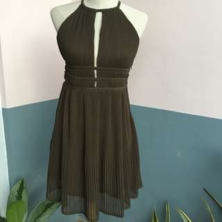 Pleated Halter H&M Dress