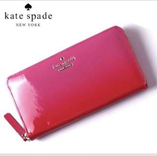 Kate spade漆皮銀包