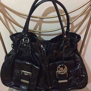 Authentic Michael Kors Desert Patent Leather Large Tote Bag