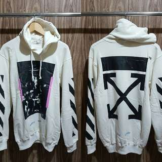 Hoodie distro Off white Caravaggio Arrows Premium