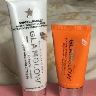 GlamGlow Daily Cleanser, Brighten Mask