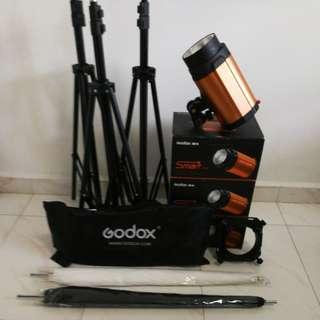 Godox Smart 300SDI Studio Lighting Set (3 Strobe Lights)