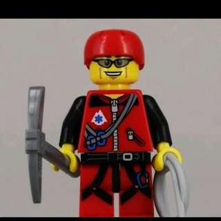 Lego 71002 Series 11 Minifigs Mountain Climber 登山者 連底板 說明書 包裝袋 (全新開袋確認)