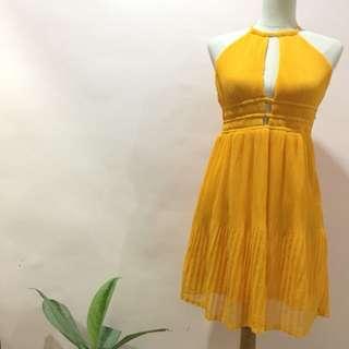 Pleated Halter H&M Dress