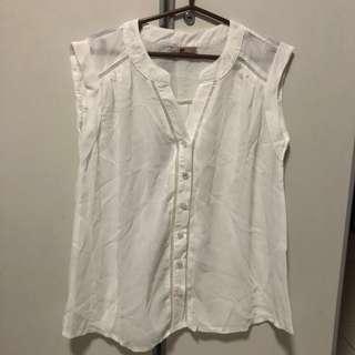 White work blouse top