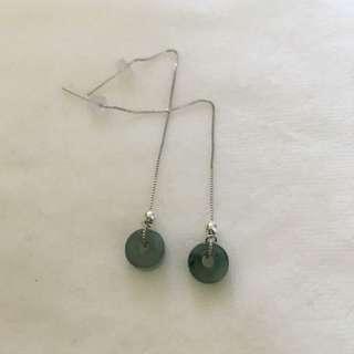 天然翡翠耳環 ER01