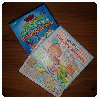 2 Nursery Rhyme CDs and 1 Action Song CD