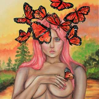 Monarch (Oil Painting)