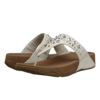 FitFlop Biker Chic™. | Urban White | US Women's Size 5,6,7,8,9,10,11 | Flip Flop Sandal Slipper | Original Price US$100