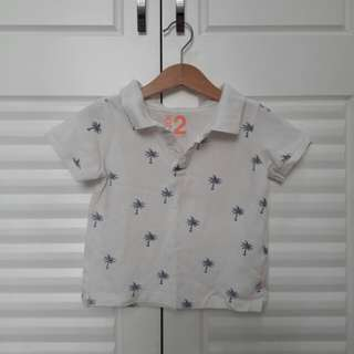 Cotton On Kids Patterned Polo Shirt