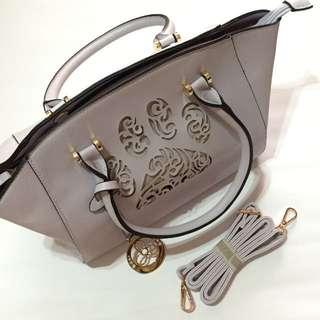 Lavender Handbag w/ Strap