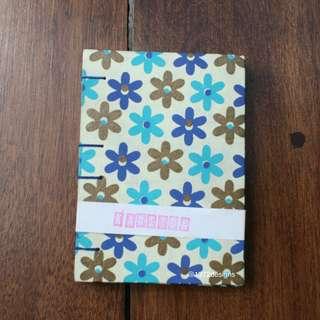 Flowers on Yellow Field Handmade Journal