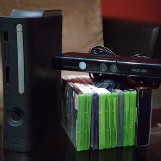 GARAGE SALE!!! Excellent condition Xbox 360 (120GB) with Kinect and 10 Games.