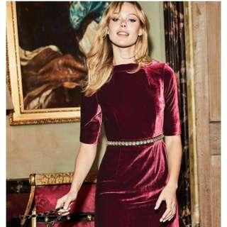 Boden Velvet Red Dress - sold out size 4