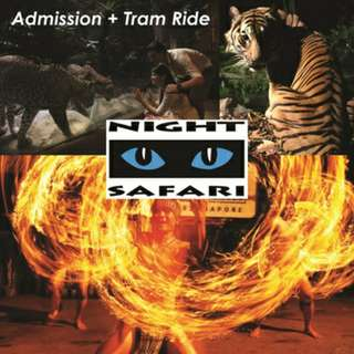 Cheap night safari tickets with tram ride for sale!!!!!