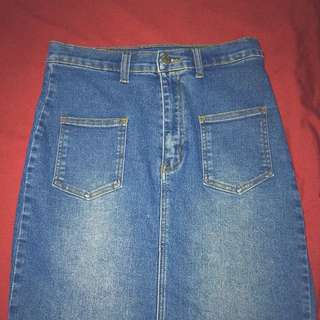 denim skirt (fits M/L [28-29])