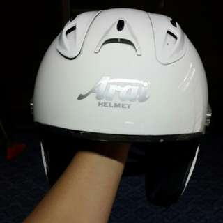Helmet arai all white