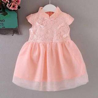 Baby Cheongsam Dress - Pink