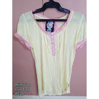 Mint Yellow Top