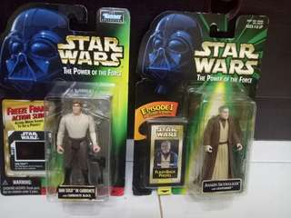 Star wars 1997 Han solo with carbonite and old anakin skywalker rare..