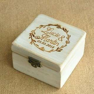 Personalised customised ring box jewellery box