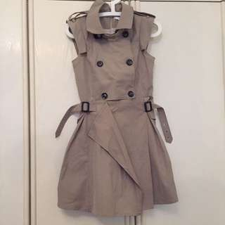 Korean structured trench coat dress