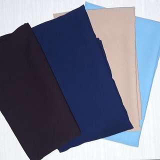 Jilbab segi 4 warna