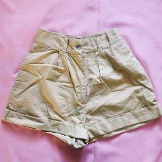 Highwaisted Yellow Shorts