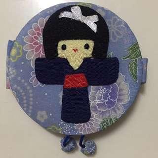 Japanese Kimono Design Pocket Mirror
