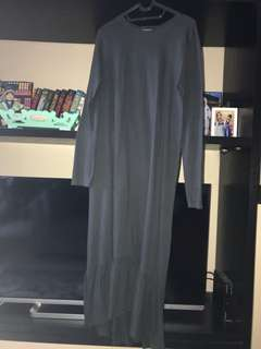 Zara grey navy long sleeve dress