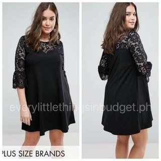 Lace Sleeve Blouse Dress (PLUS SIZE)