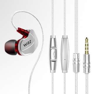 (淘寶$25優惠券)WRZ X6重低音手機蘋果電腦通用男女耳塞掛耳式運動入耳式耳機耳麥