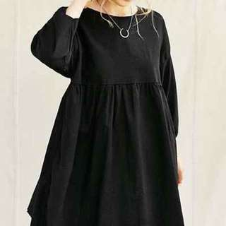 INSTOCK black babydoll dress