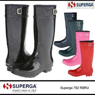 Clearance! [Authentic] Superga Rainboots in Teal - Brand New!