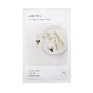 Innisfree My Real Squeeze Mask - Ginseng 20ml [10 PCS] [MIX & MATCH] [NEW ARRIVAL]