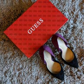 Guess women's pink multi suede party stiletto shoes