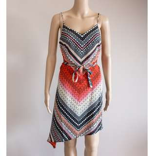 NEW with tags River Island red/black aztec boho print summer/festival dress 10